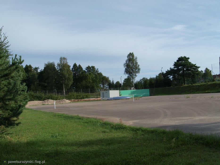 część stadionu sportowego Gołdap